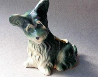 Vintage Dog Planter ~ Ceramic ~ Scotty