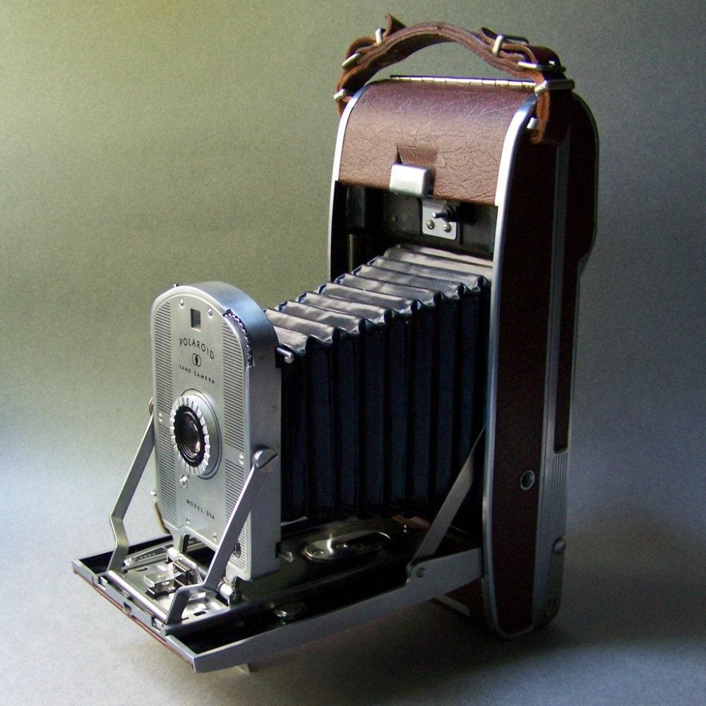 Model Land Movie: Vintage Polaroid Land Camera Model 95A W/ Lens Kit