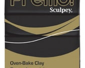 Black Premo! Sculpey Oven-Bake Polymer Clay, 2 oz, Polymer Clay