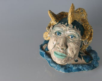 Elderly Goddess of the Sea and Blue Ringed Octopus