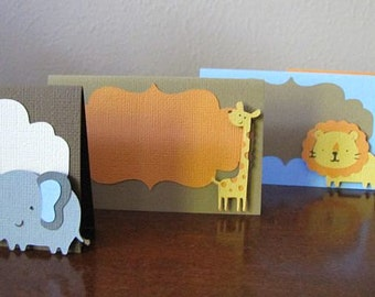 Safari Party Food Tent Cards, Safari Party Place Cards, Jungle Party Food Tent Cards, Safari Party Food Labels, Jungle, Elephant, Set of 10