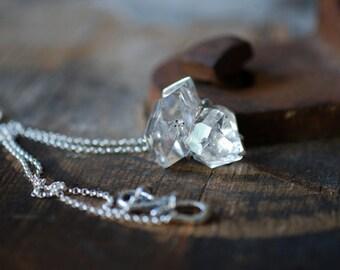 Diamond In The Rough- White Herkimer Diamond Cluster