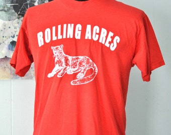Awesome Panther Tee Rolling Acres Vintage Soccer TShirt Cromwell CT Panthers LARGE