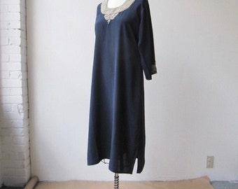 vintage 1970s embellished desert dress
