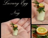 Luxury Rustic Christmas Egg Nog - Artisan fully Handmade Miniature in 12th scale. From After Dark miniatures.