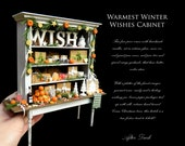 SALE - Warmest Winter Wishes - Rustic Cabinet Display - Artisan fully Handmade Miniature in 12th scale. From After Dark miniatures.
