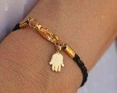 luck bracelet evil eye jewelry wish positive good luck kabbalah cameo