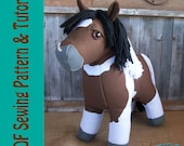 Rustic Horseshoe's Original Canvas Colt Horse Plush Sewing Pattern and Tutorial