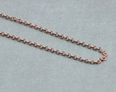 "Pure Copper Chain Necklace - 16"" or 18"" Antiqued"