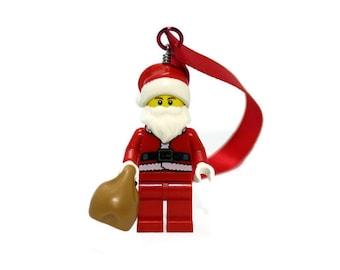 Santa Claus Christmas Ornament - made from LEGO ® Santa Minifigure, Christmas Decoration, Geek Christmas