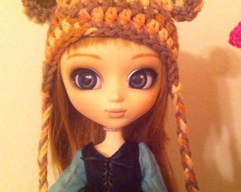 Kawaii Crochet Teddy Bear Ears Hat for Pullip Dolls