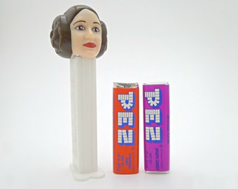 Star Wars Princess Leia, Carrie Fisher PEZ Dispenser with Unopened Candy - 1990's Star Wars PEZ Collectible - Princess Leia Organa Star Wars