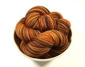 Hand Dyed Yarn - Sock Weight Superwash Merino Wool Yarn - Nutmeg Multi - Knitting Yarn, Sock Yarn, Wool Yarn, Earthtones, Fingering