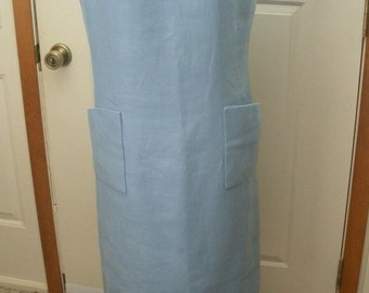 Vintage Designer Norman Norell Light Blue Sheath Dress