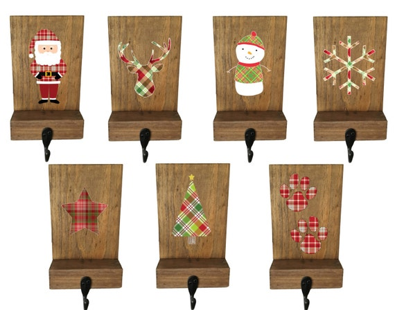 Stocking holder mantle stockings reclaimed wood rustic for Mantle holders