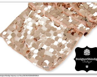 Large Blush Sequin Table Runner