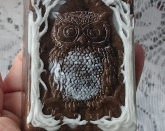 Owl Soap, Bird Soap, Buttermilk Soap,Calendula Soap, Woodland Soap, Forest, Animal Soap, Sage, Decorative, Fall,Winter,Glycerin, Creamy