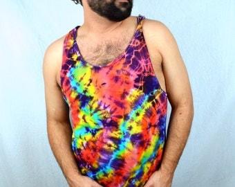 Vintage 80s 90s Tie Dye Tank Top Shirt