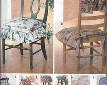 Uncut Sewing Pattern, Simplicity Craft 7966, Chair Pads Cushions, Futon / Glider Covers, Back and Seat Covers, Rocking, Double, Single Futon