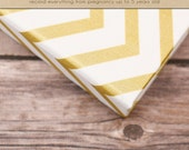 Baby  Book (Pregnancy - 5 years) - Gold Chevron  (136 designed journaling pages & personalization included)