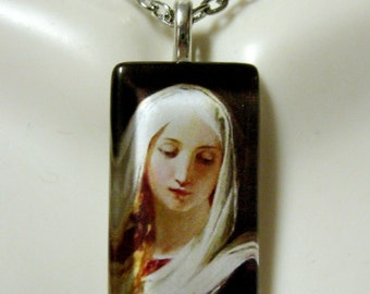 Virgin Mary pendant with chain - GP09-089