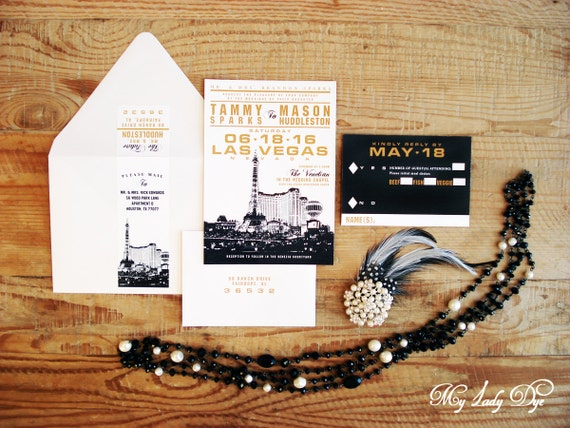 Las Vegas Wedding Invitation Wording: 100 Las Vegas Wedding Invitations Destination Wedding