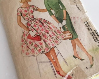 Vintage 1960 Dress Pattern McCall's 5604
