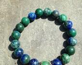 Azurite Mala Bracelet