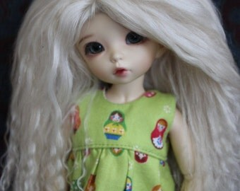 Sweet Nordic Blond mohair wig for Littlefee / other YoSD sized / Unoa / Enyo doll