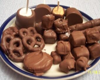 Chocolate Sampler Package / Sunday Football Snack / Hostess Gift / Dessert Platter /Office Party Platter / Baby Shower Favor Package