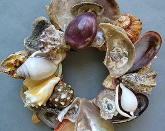 Colorful Shell Wreath or Candle Ring-SW78