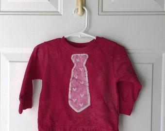 Valentine's Day Shirt, Boys Valentine's Day Shirt, Girls Valentine's Day Shirt, Kids Shirt with Tie, Kids Valentines Shirt (18 months)