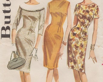 Butterick 2137 / Vintage 60s Sewing Pattern / Dress / Size 16 Bust 36