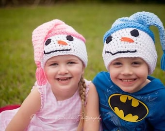 Baby through Adult Sizes - Snowman Hat