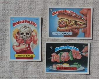 Yucky Lot of 3 Vintage Topps Garbage Pail Kids Cards Stickers 1980s Gross