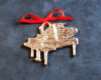 Pewter Piano Ornament
