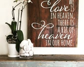 Heaven In Our Home Barn Wood Sign - Planked Typography Sign-100 year old reclaimed Barn Wood Wall Decor