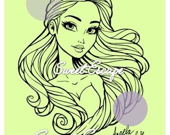 Digital Stamp: Amy (Beauty)