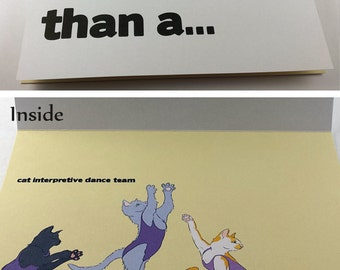 Awesome Cat Interpretive Dance Team 5x7 Card