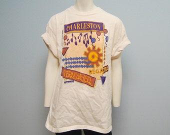 "Vintage 1990's ""Charleston Regatta Sternwheel"" T-Shirt - Size Large"