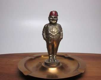 Faux Bronze Shriner Ashtray
