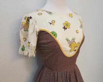 1960's Rockabilly Western Fashions Square Dance Dress