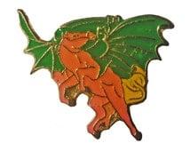 PEGASUS mystical beauty vintage cloisonne pin brooch 1980s rainbows