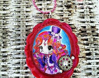 Steampunk Necklace- Steampunk Jewelry-Cogwheel Jewlery-Chain Necklace-Ladies Necklace-Steam punk Jewelry-Womans Necklace