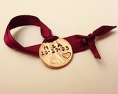 Wedding Ornament: Our 1st First Christmas Ornament Married; Personalized 2018 Anniversary Newlyweds Ornament, Initials, Date, Couples Gift