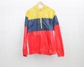 color block biking RAIN PARKA  lightweight TOGGLE jacket