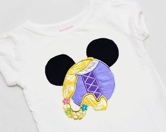 Long Haired Princess Mouse Ears Shirt