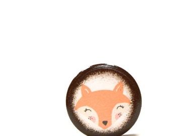 Fox Face Pill Box, Toothfairy Box, Treasure Box, Wooden Box, Small Pill Boxes, Keepsake Box, Kids, Children, Trinket Box, Handmade, Gift Box
