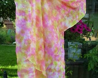 Soft Sweet Pink Peachy Silk Chiffon Summer Scarf Wrap Shawl