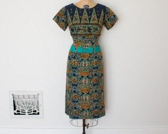 Vintage 1960s Dress - 60s Batik Dress - The Marta